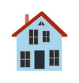 house with chimney and door vector image