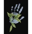 Human hand print vector image