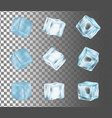 ice cube icon set realistic vector image vector image