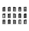 icons company set on white background black vector image vector image