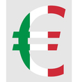 Italian Euro vector image vector image