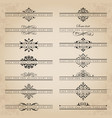 large collection of ornate headpieces vector image vector image
