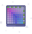 launchpad midi controller flat line art vector image vector image