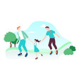 lgbt-family have fun rollerblading vector image vector image