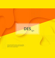 liquid abstract yellow and orange background vector image