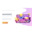 managers workshop concept landing page vector image vector image