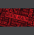 mental health words background vector image