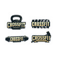 modern professional logo emblem set for crossfit vector image