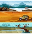 Nature landscapes travel flat banners set vector image