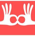 ok hand gesture mask vector image vector image