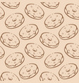 ourline donut seamless pattern hand drown vector image vector image