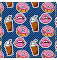 patches dessert food vector image vector image