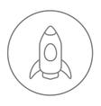 Rocket line icon vector image vector image