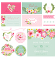Scrapbook Design Elements - Tropical Flower Theme vector image vector image