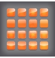 Set of blank orange buttons vector image vector image