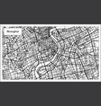 shanghai china city map in black and white color vector image