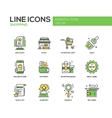Shopping - line design icons set vector image vector image