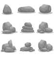 Silhouette of rock object art vector image