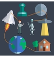 Space infographics set vector image vector image