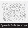 speech bubble hand drawn vector image vector image