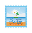 Summer vacation item vector image