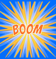 sun rays or explosion comic radial boom banner vector image