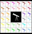 telescope simple sign felt-pen 33 vector image