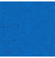 Thin Line Dark Blue Construction Seamless Pattern vector image vector image