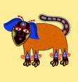 unique original drawing of dog vector image