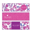 vibrant field flowers horizontal banners set vector image