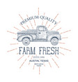 vintage farm food logo engraved logo vector image