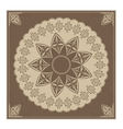 Vintage radial ornament vector image vector image