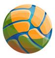 volleyball ball icon cartoon style vector image vector image