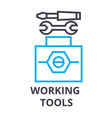 working tools thin line icon sign symbol vector image