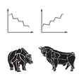 stock market business logo design template vector image
