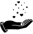 Hand of black colour vector image