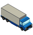 3d design for blue lorry truck vector image vector image