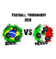 4298 - brazil vs switzerland vector image vector image