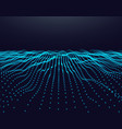 abstract digital landscape with flowing particles vector image vector image