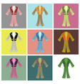 assembly flat icons mens suit vector image