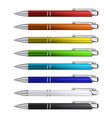 ball pens collection vector image vector image