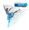 ballet dance girl - dot vector image vector image