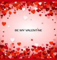 be my valentine valentines day greeting card vector image