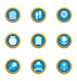 beeswax honey icons set flat style vector image vector image