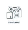 best offer line icon best offer outline vector image