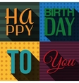 Birthday card with wishes text in retro design vector image vector image