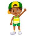 Boy from kenya in green shorts