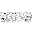 canadian symbols and signs doodle set vector image vector image