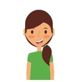 Cartoon young girl icon