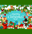 christmas holiday santa gifts greeting card vector image